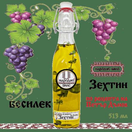 Зехтин по рецептата на Петър Дънов - БОСИЛЕК, 513 мл