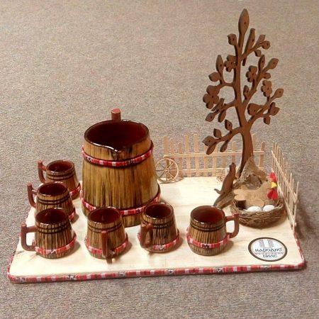 Комплект Керамично буренце с 6 чашки - 500 мл